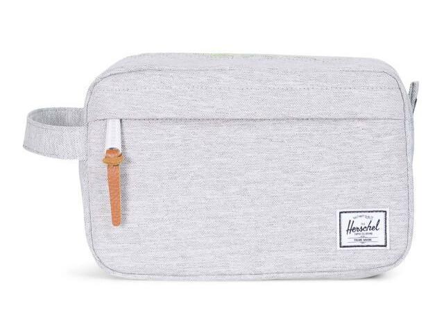 Herschel Chapter Travel Kit Unisex light grey crosshatch